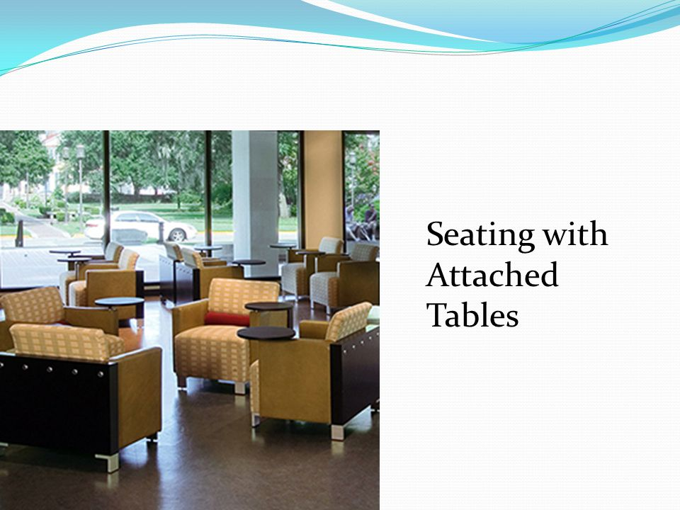 Seating with Attached Tables