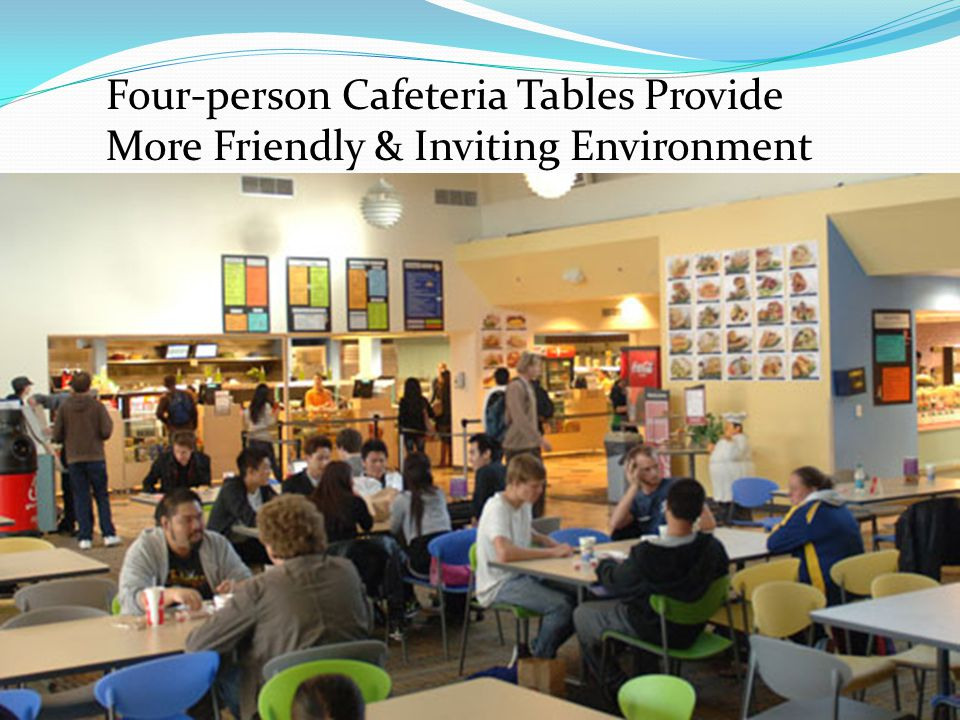 Four-person Cafeteria Tables Provide More Friendly & Inviting Environment