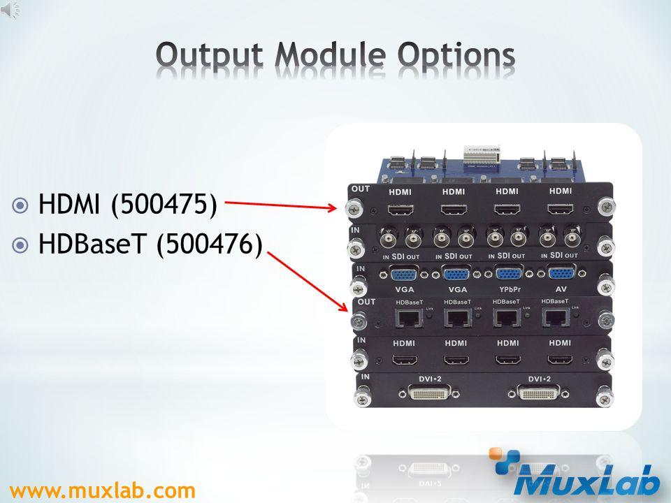  SDI (500473)  VGA (500474)  HDMI (500471)  DVI (500472)