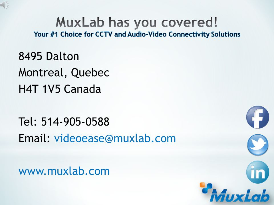 www.muxlab.com Built-in Webserver Use one screen to manage all of your displays and sources. At the click of a button – control your entire Matrix Swi