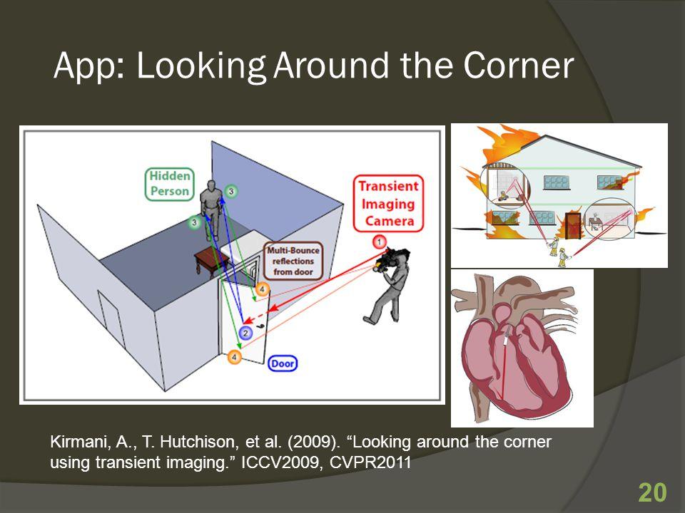 App: Looking Around the Corner 20 Kirmani, A., T. Hutchison, et al.