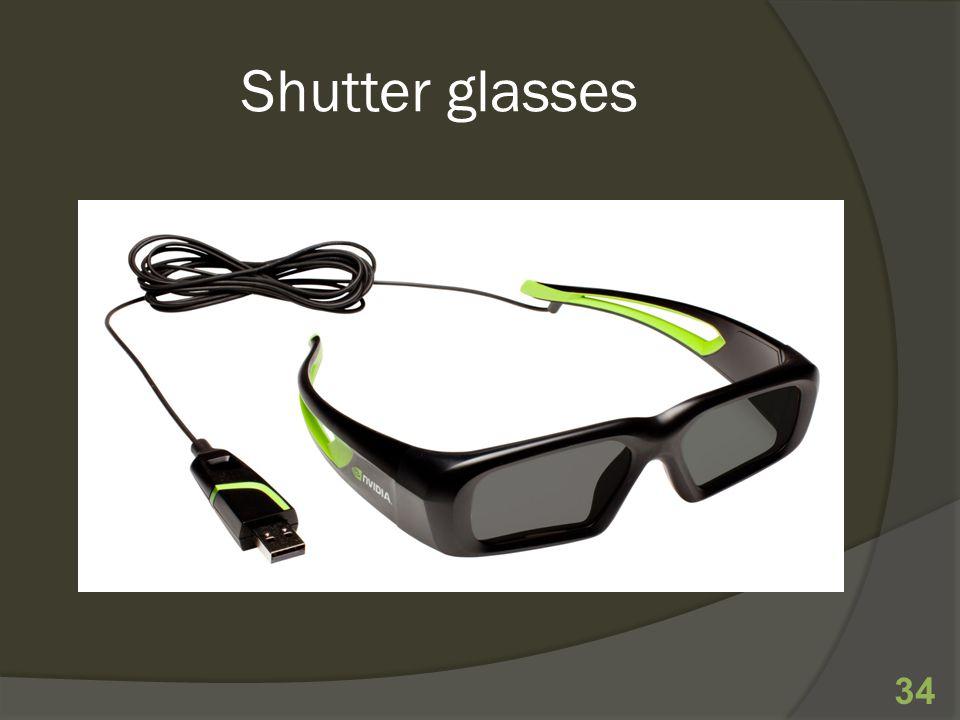 Shutter glasses 34