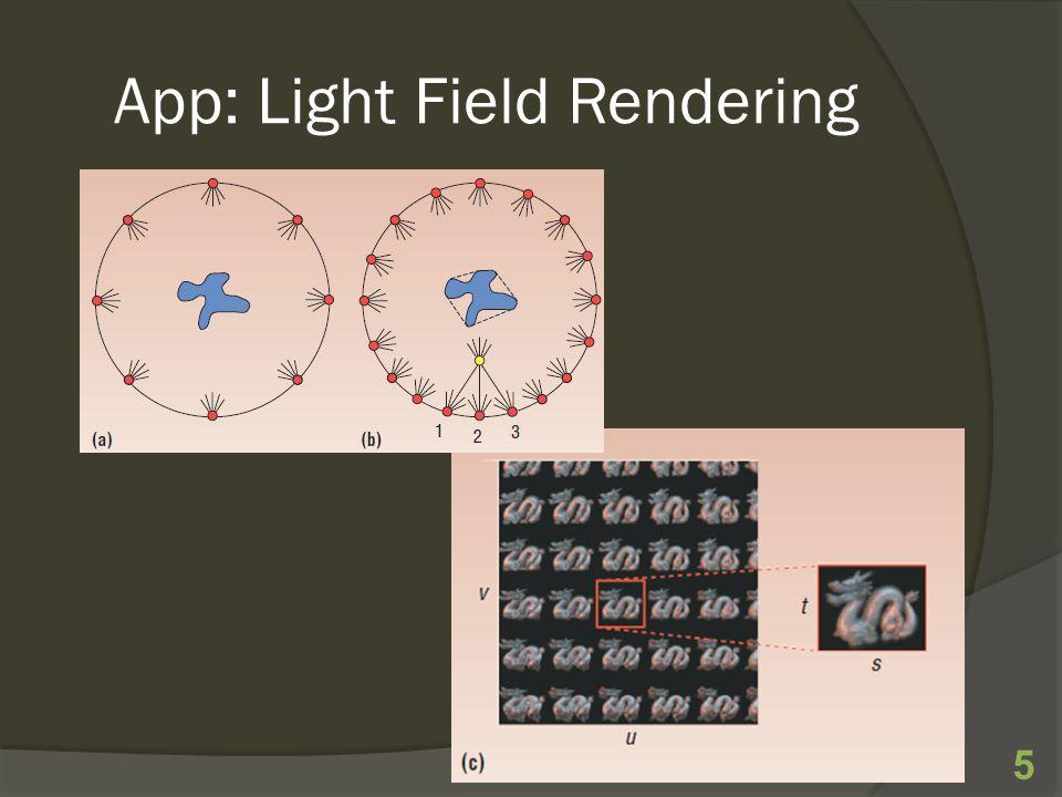 App: Light Field Rendering 5