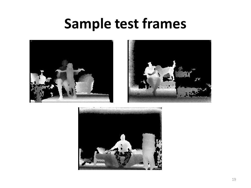 Sample test frames 19