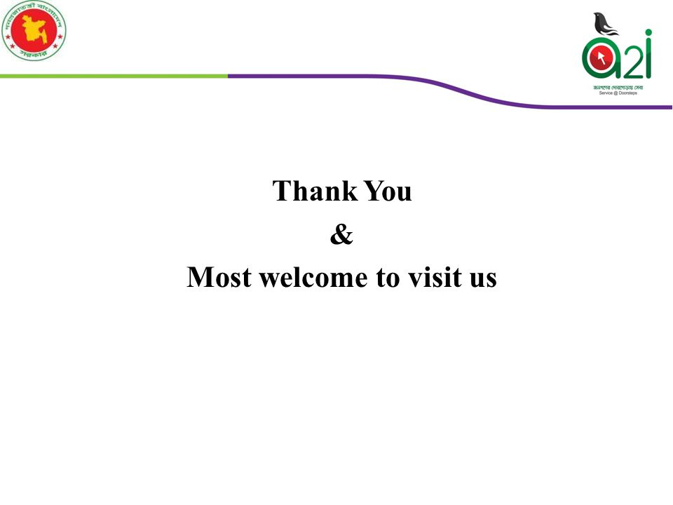 Thank You & Most welcome to visit us