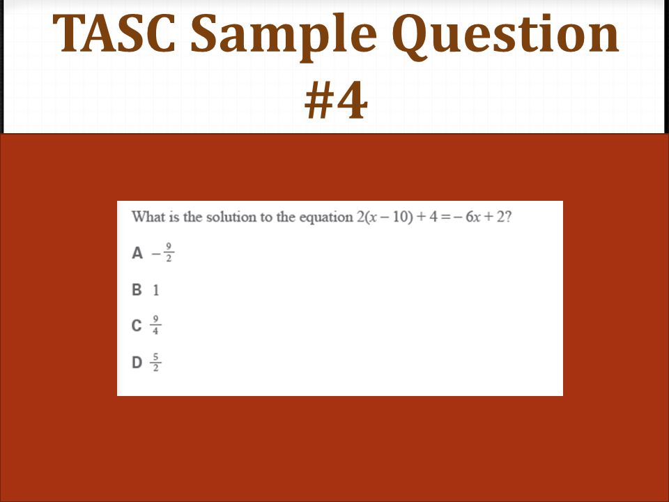 TASC Sample Question #4