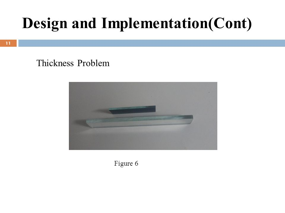 Design and Implementation(Cont) 11 Thickness Problem Figure 6