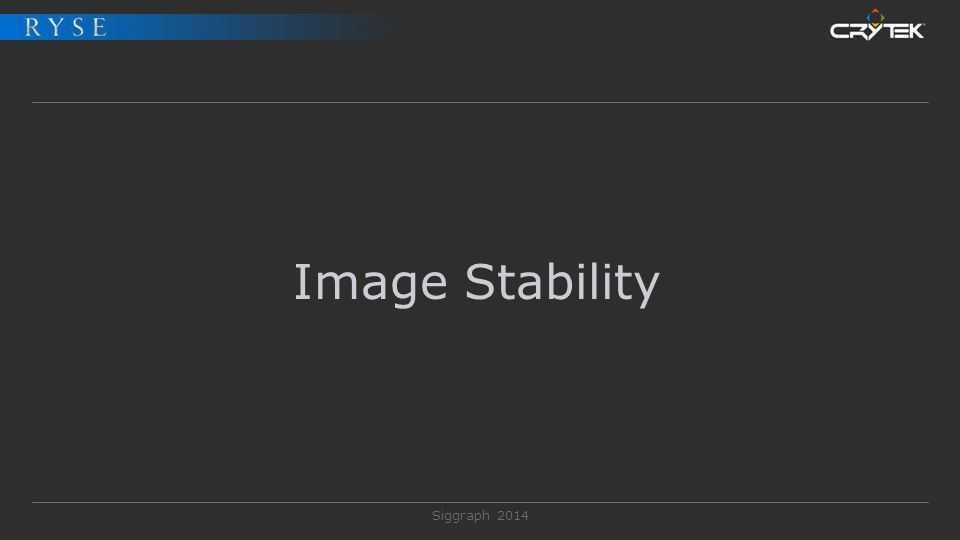 Siggraph 2014 Image Stability