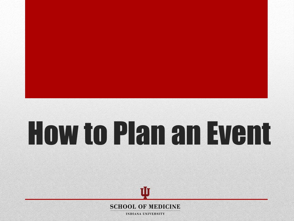 How to Plan an Event