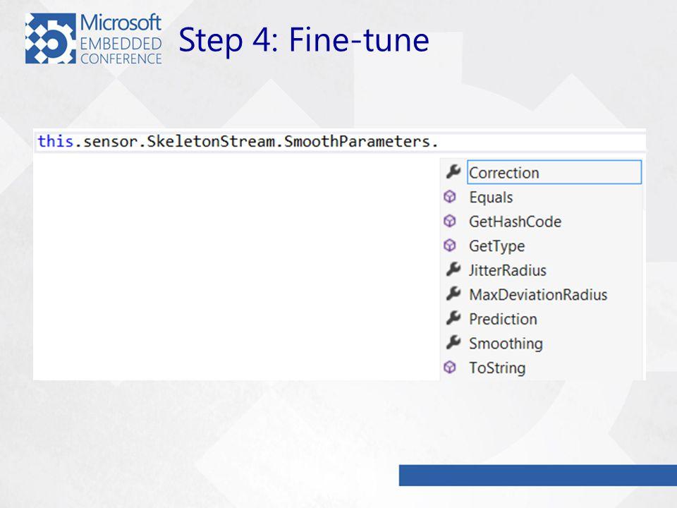Step 4: Fine-tune