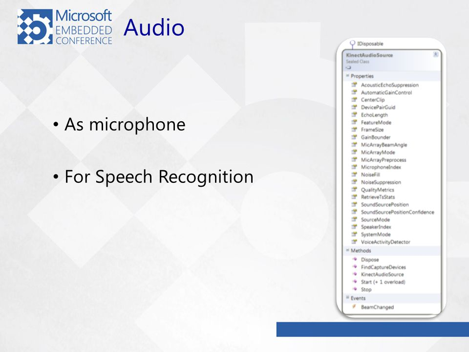 Audio As microphone For Speech Recognition
