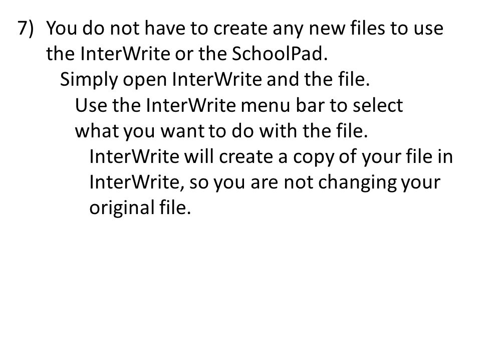8)You can download the InterWrite software to your home computer for free.