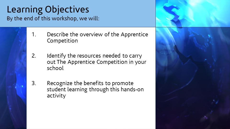 Route Map: How will we get there? Explanation & Discussions The Apprentice Activity Plenary