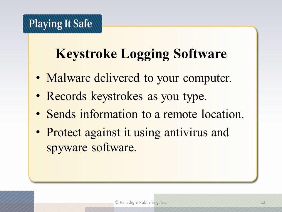 Keystroke Logging Software Malware delivered to your computer.