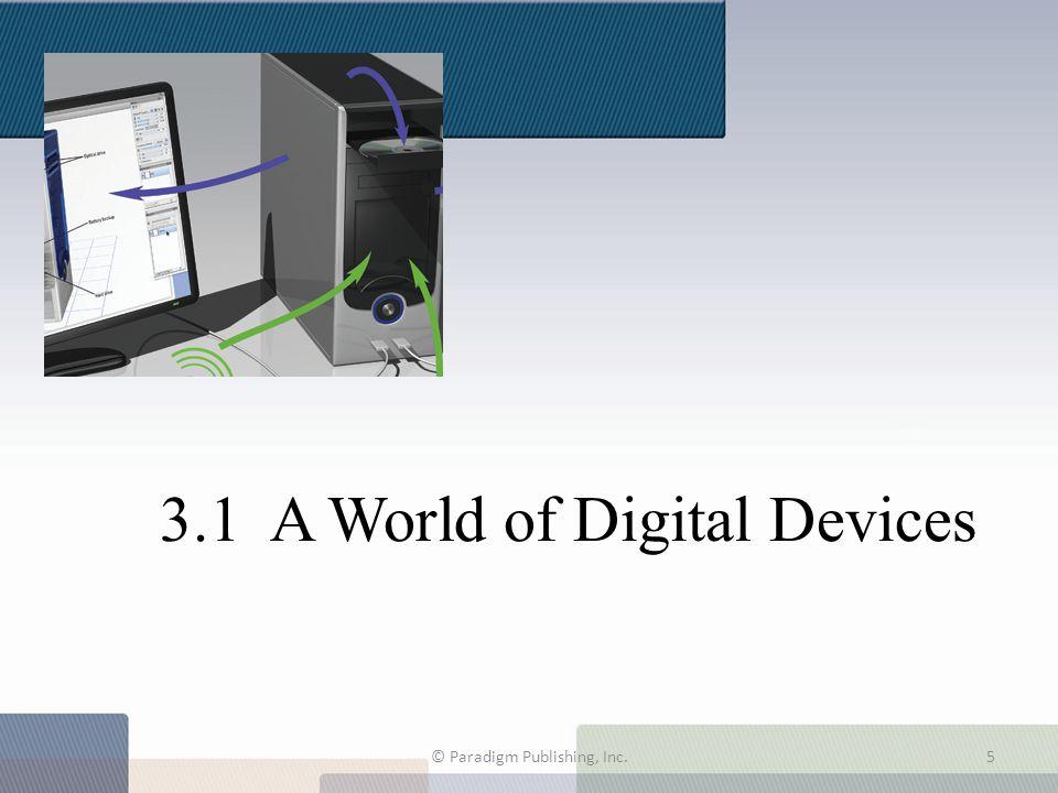 3.1 A World of Digital Devices © Paradigm Publishing, Inc.5