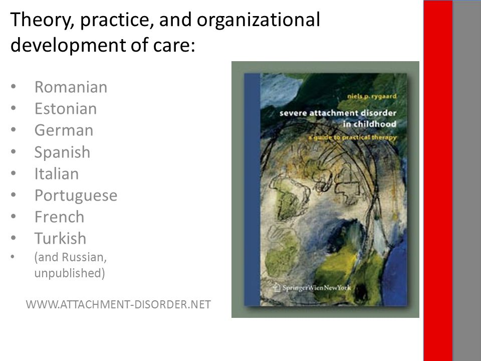 Theory, practice, and organizational development of care: Romanian Estonian German Spanish Italian Portuguese French Turkish (and Russian, unpublished