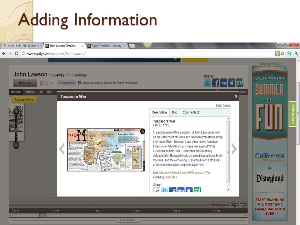 Adding Information