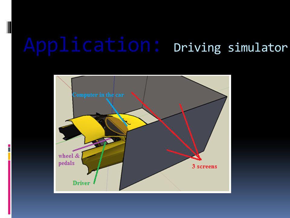 Application: Driving simulator