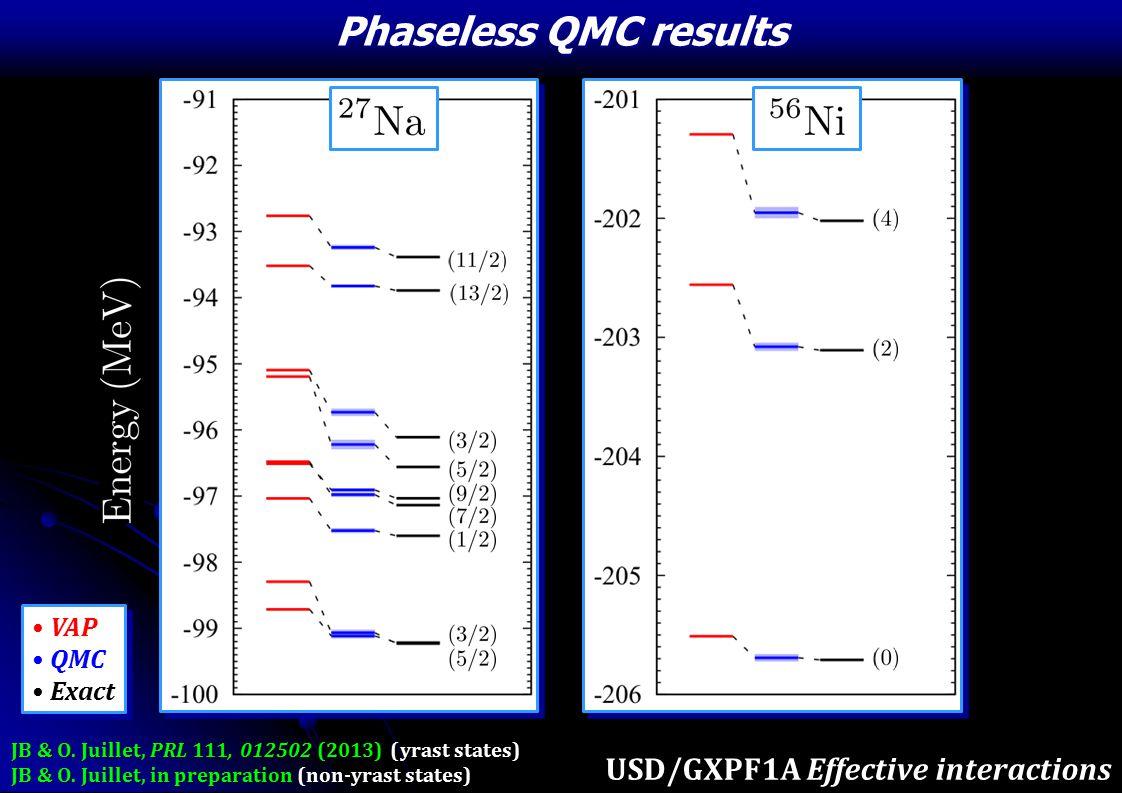 Phaseless QMC results VAP QMC Exact VAP QMC Exact JB & O.