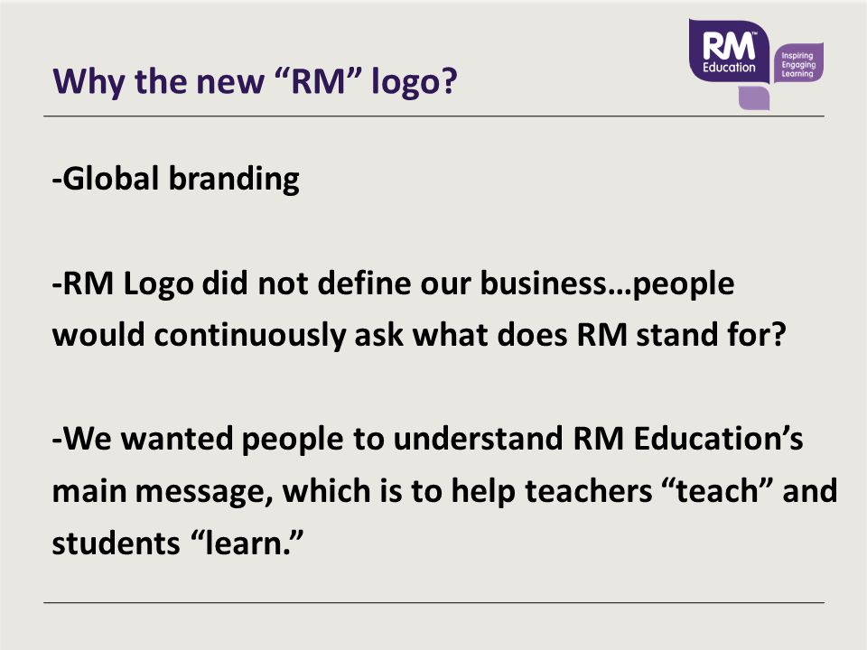 Why the new RM logo.
