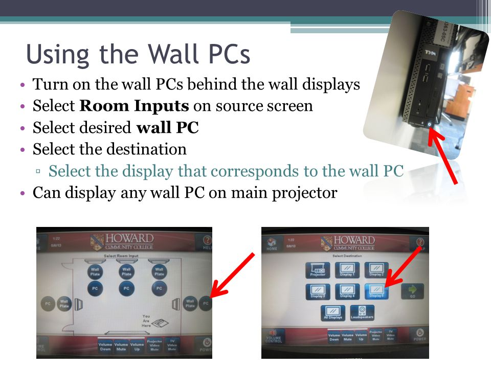 Using the Wireless Keyboard Stored in instructor's station cabinet Each keyboard assigned to specific wall PC ▫Check sticker on back of keyboard Turn keyboard on using on/off switch
