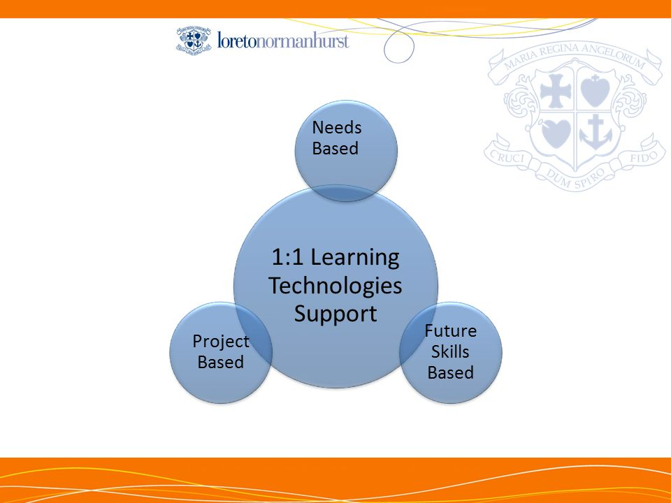 1:1 Learning Technologies Support Needs Based Future Skills Based Project Based