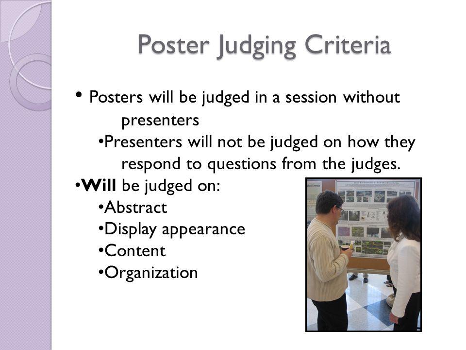 Oral Presentation Judging Criteria Abstract Organization Content Delivery