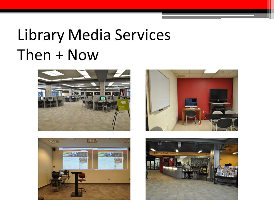 Library Media Services Then + Now