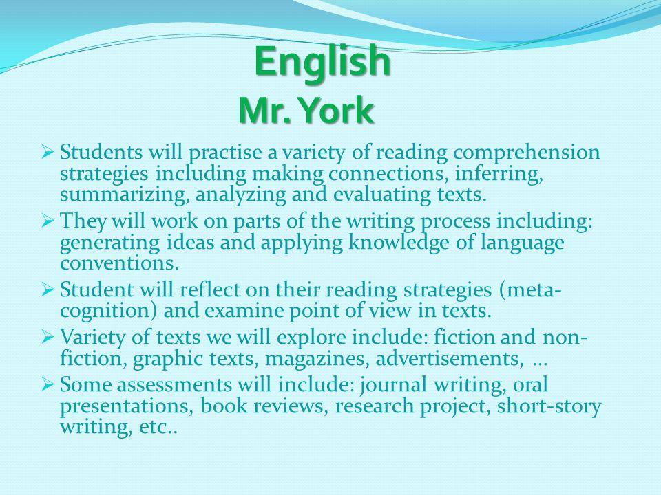 English Mr. York English Mr.