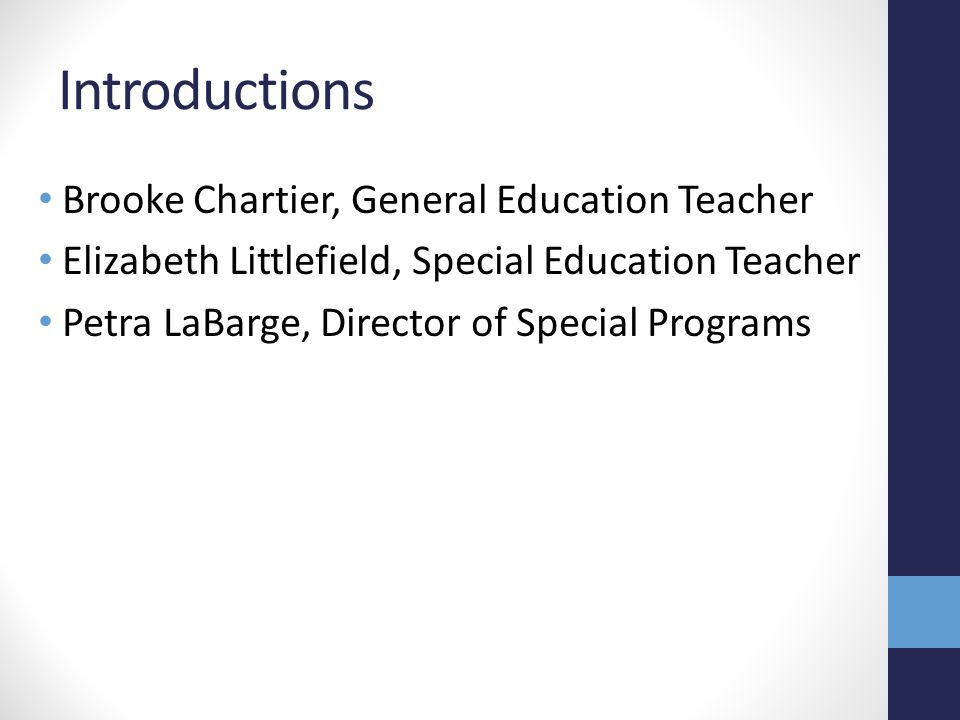 References Continuum of Special Education Services for School-Age Students with Disabilities Fisher, D.