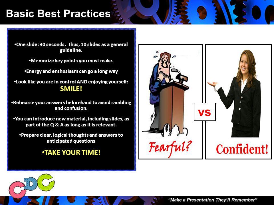 I. Basic Best Practices
