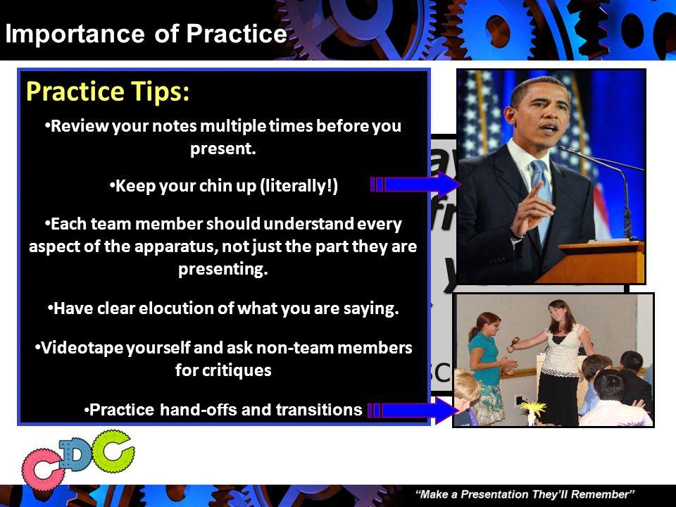 III. The Importance of Practice