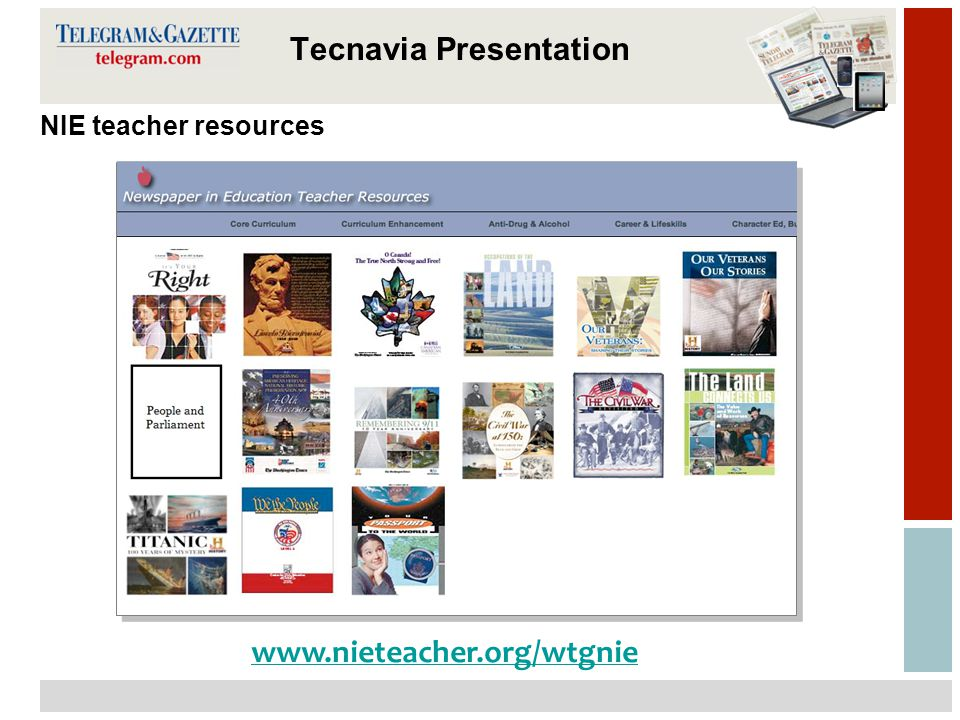 13 Tecnavia Presentation NIE teacher resources www.nieteacher.org/wtgnie