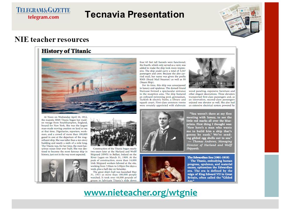14 Tecnavia Presentation NIE teacher resources www.nieteacher.org/wtgnie