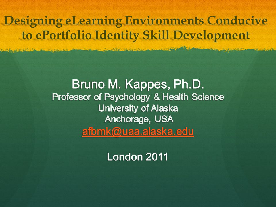 Designing eLearning Environments Conducive to ePortfolio Identity Skill Development