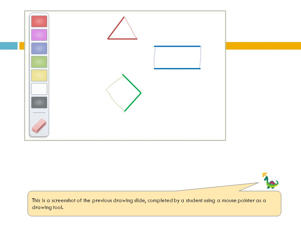 This is a screenshot of the previous drawing slide, completed by a student using a mouse pointer as a drawing tool.