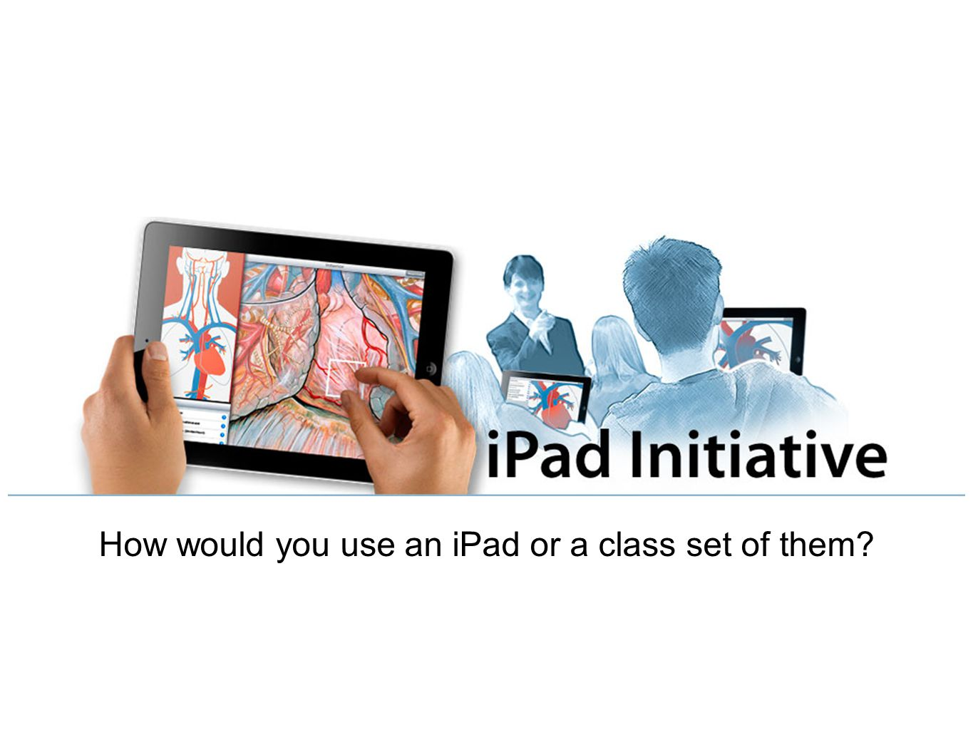 How would you use an iPad or a class set of them