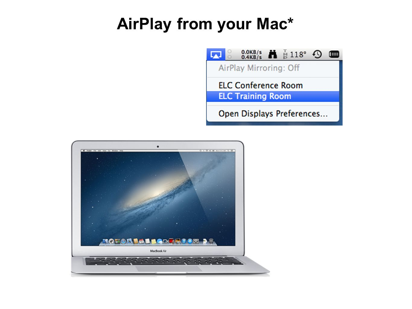 AirPlay from your Mac*