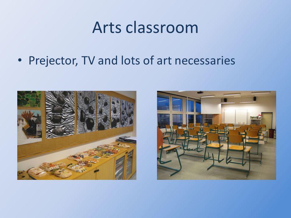 Arts classroom Prejector, TV and lots of art necessaries
