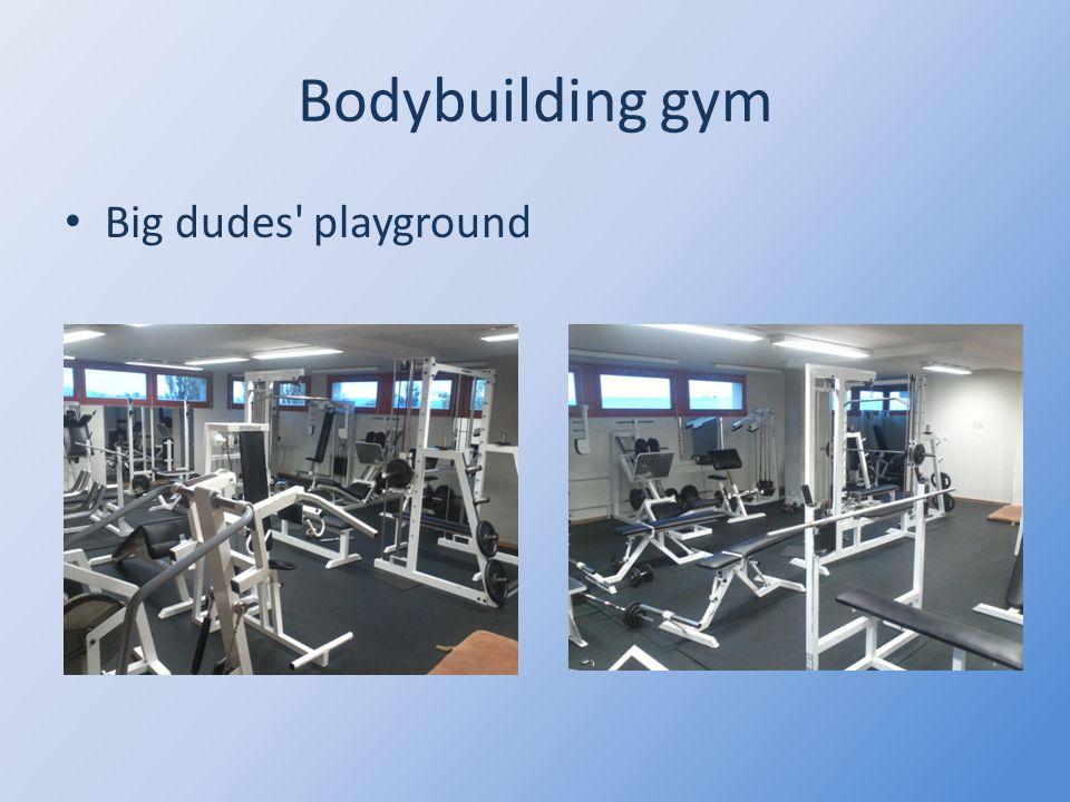 Bodybuilding gym Big dudes playground
