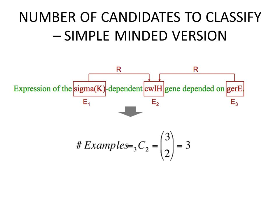 NUMBER OF CANDIDATES TO CLASSIFY – SIMPLE MINDED VERSION