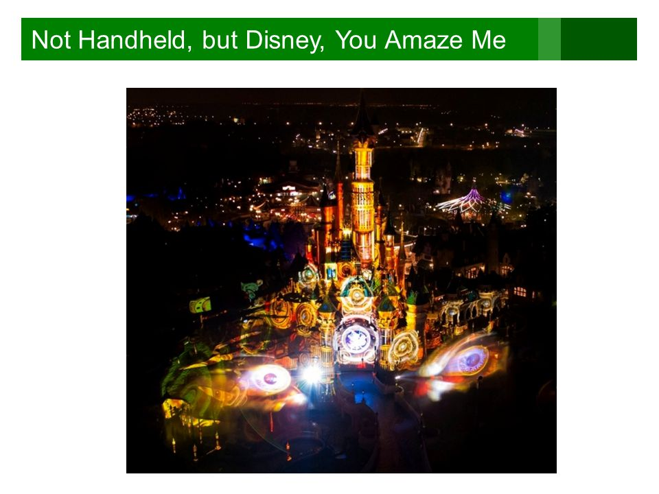 Not Handheld, but Disney, You Amaze Me