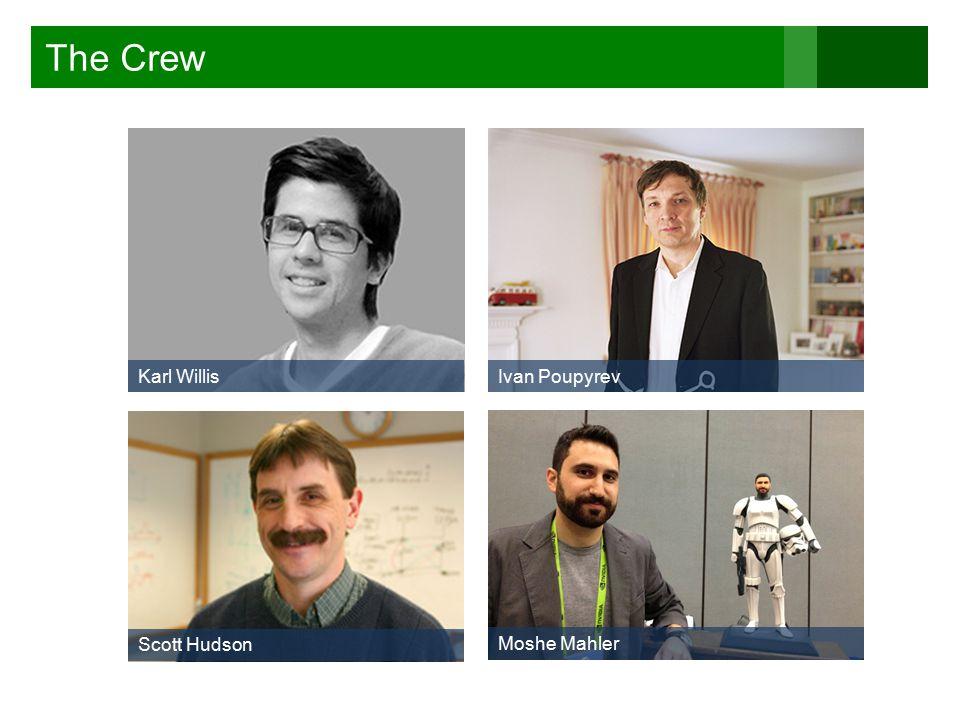 The Crew Karl WillisIvan Poupyrev Scott Hudson Moshe Mahler