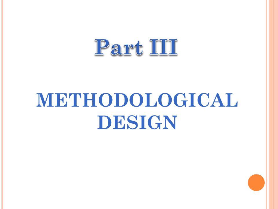METHODOLOGICAL DESIGN