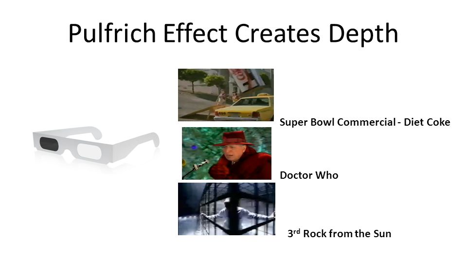 Pulfrich Effect Creates Depth Super Bowl Commercial - Diet Coke Doctor Who 3 rd Rock from the Sun