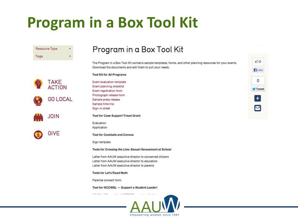 Program in a Box Tool Kit