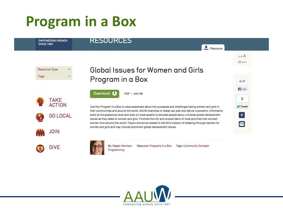 Program in a Box