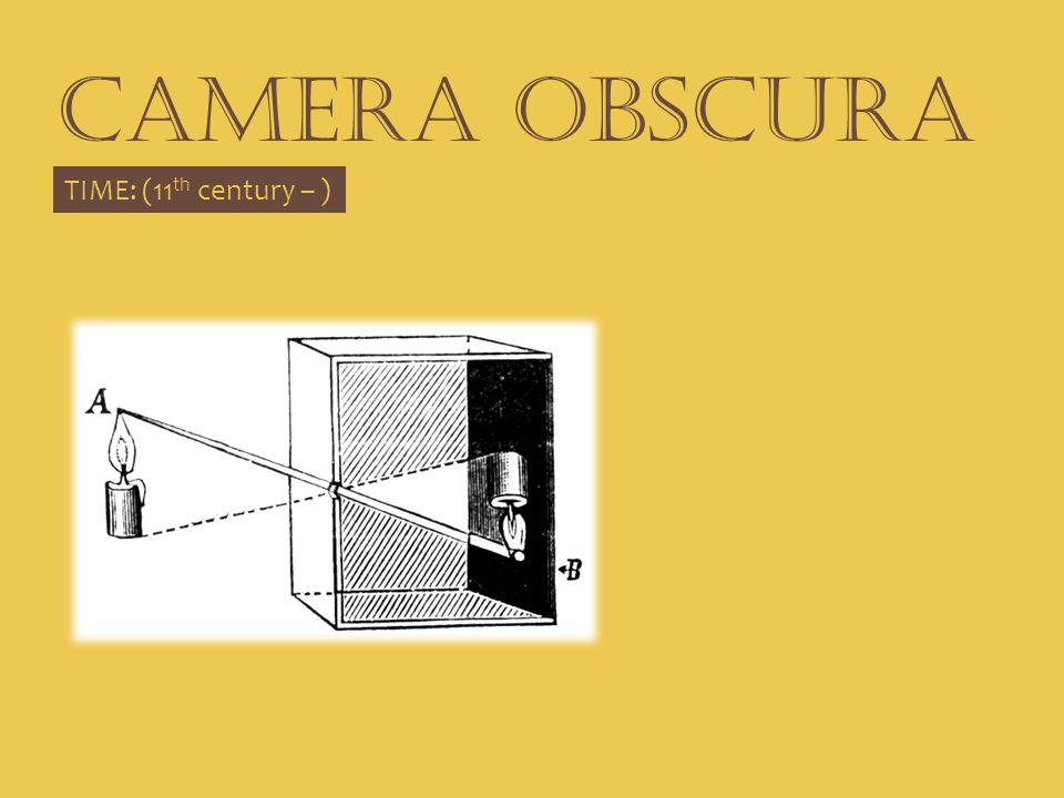 CAMERA OBSCURA TIME: (11 th century – )