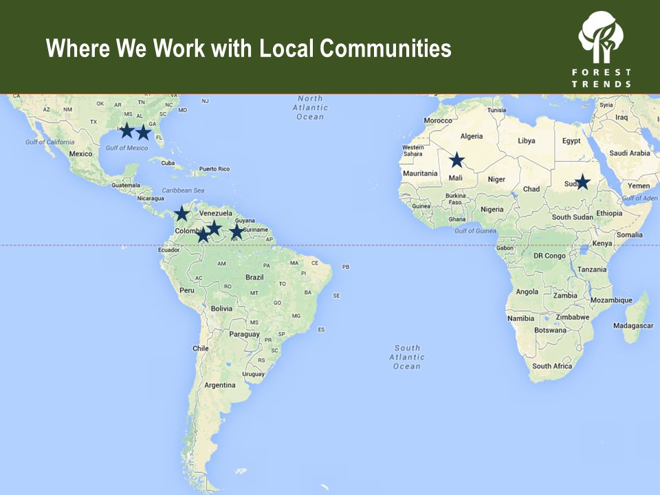 Where We Work with Local Communities