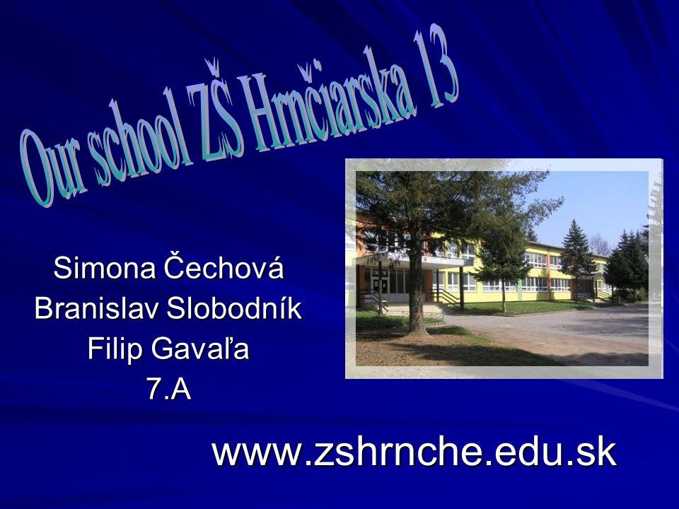 www.zshrnche.edu.sk Simona Čechová Branislav Slobodník Filip Gavaľa 7.A